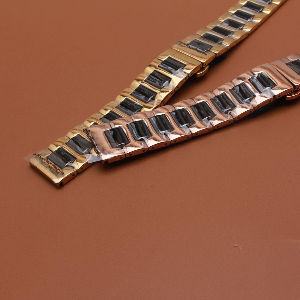 Bracelets de montres Or rose Enveloppe en acier inoxydable Céramique - Accessoires montres - Photo 3