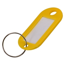 50 Pcs Plastic Keychain Key Tags ID Label Name Tags Split Ring 50 in 1 assorted color plastic key id label name card tags keychains keyrings