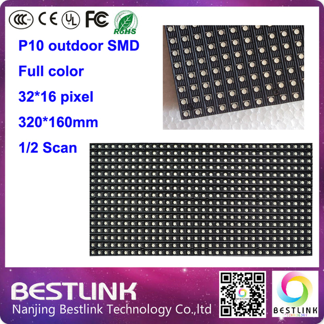 p10 led display module 32*16 pixel 2s rgb video led panel 10pcs a lot outdoor led advertising display led sign board taxi top