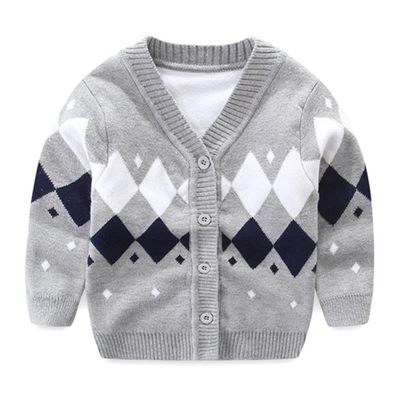 Newborn Baby Sweater For Boy Cotton Soft Baby Cardigan Long Sleeve V-Neck Boy Sweater Autumn Knitted Cardigan Baby Boys Clothing