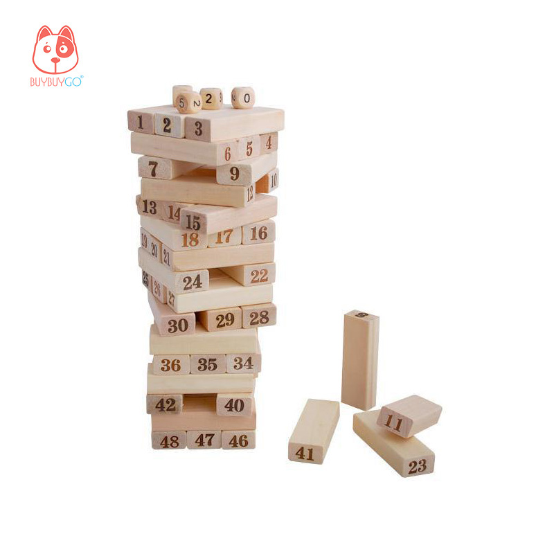 Wood Series Building Blocks Large 48-piece Figure Stacked Toys Wooden Blocks Stacked Children's Educational Toys lagopus classic bricks blocks game stacked layers hard wood building intellectual wooden toys