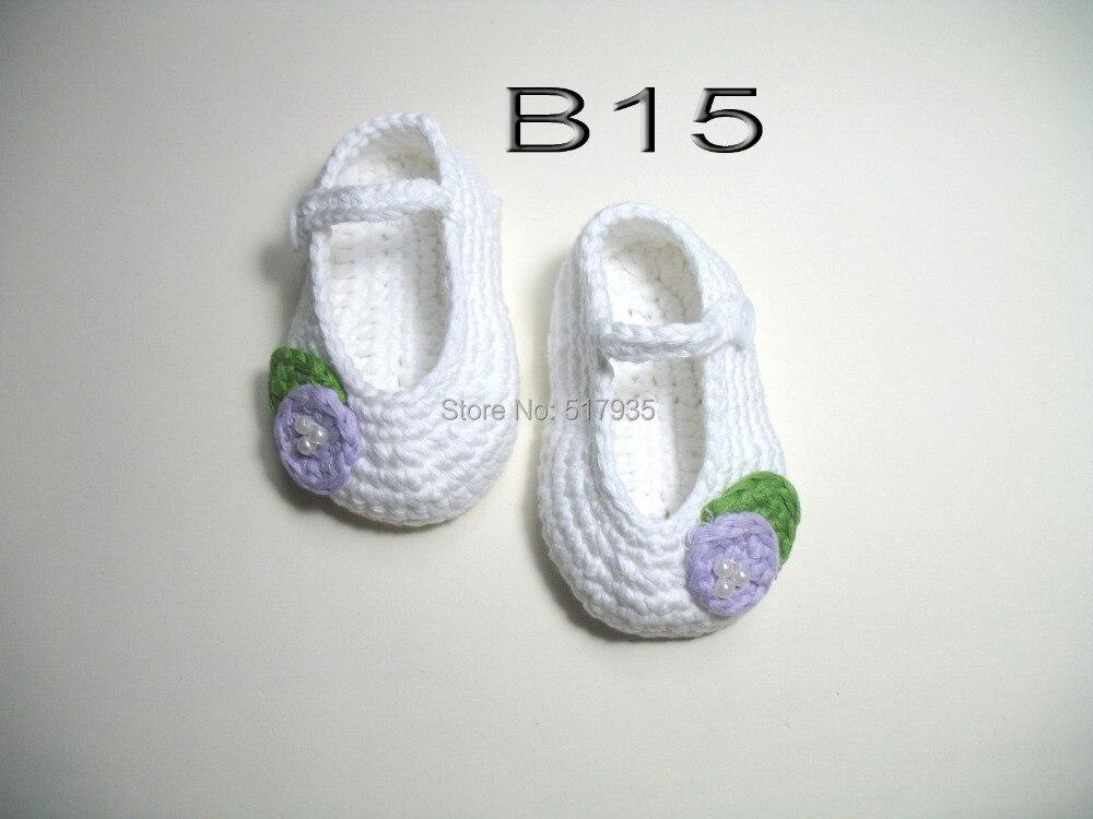 Envío libre, bebé hecho a mano del ganchillo Zapatos 100% algodón ...