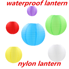 AJP round waterproof cloth lantern Outdoor Grand Event folding nylon Lantern wedding birthday party  Festival