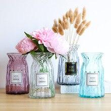 Узкая Цветочная стеклянная ваза оригами, Цветочная Аранжировка зеленых растений, гидропонное устройство, Скандинавская ваза для украшения интерьера, Цветочная ваза