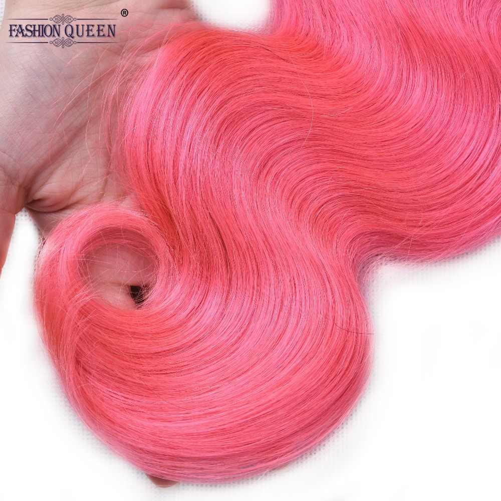 Бразильский 3 пучка пучки волнистых волос Розовый цвет не Реми человеческие волосы переплетения 8 дюймов до 28 дюймов Бесплатная доставка