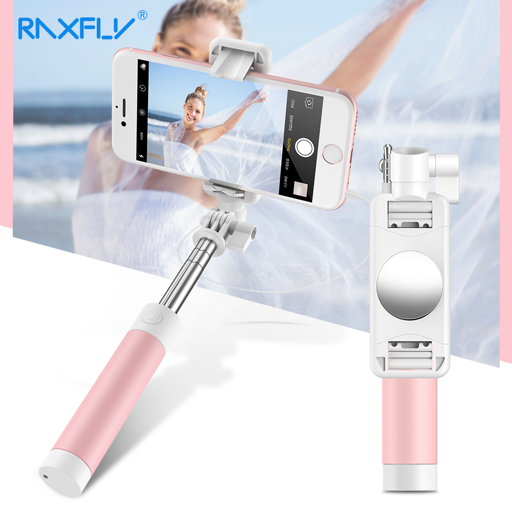 RAXFLY 360 Rotation Foldable Selfie Stick Universal Silicone Hand Tripod Mirror Selfie Stick For Samsung Xiaomi iPhone IOS Above hello kitty selfie stick selfie iphone samsung ios for universal phone model