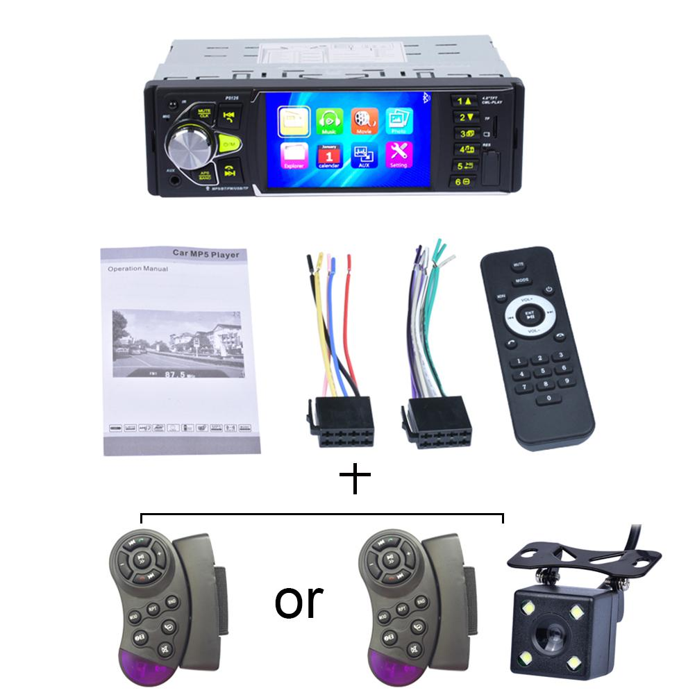 2 Din Auto Radio 4.0 Inch Car Driving Record Video Mini Camera Mp5 Player Radio HD LCD Display Car Audio IR Rear View Camera