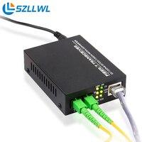 Szllwl Fiber Optic Transceiver Single Mode Dual Fiber Optic Transceiver Photoelectric Converter HTB 1100S 25KM