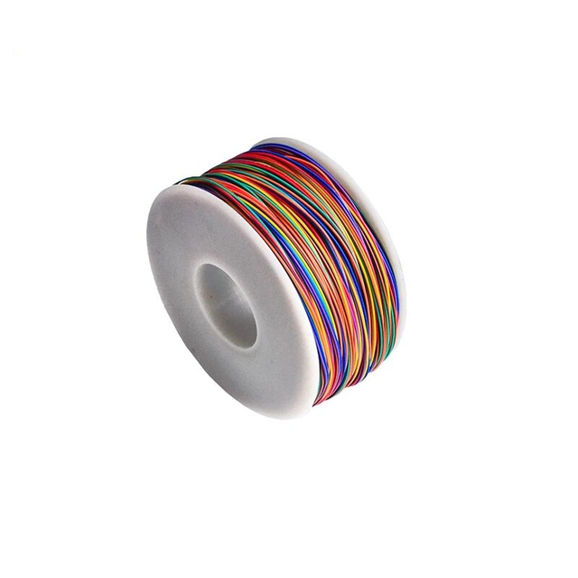 250 metr 820FT pojedynczy przewód 30AWG 0.5mm PCB latający kabel mostkujący OK linia owijania Wrap elastyczna izolacja cynowana 250 metr