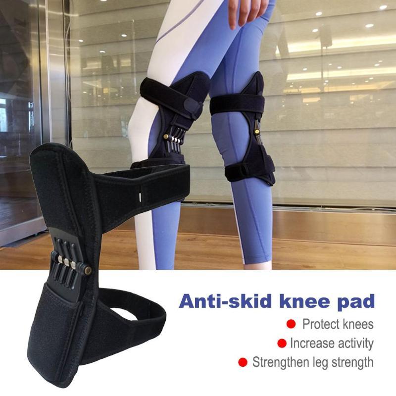 1 paire de genouillère de jambe de puissance respirante antidérapant genouillère rehausseur puissant soutien articulaire genouillère Sport rotule protecteur aîné
