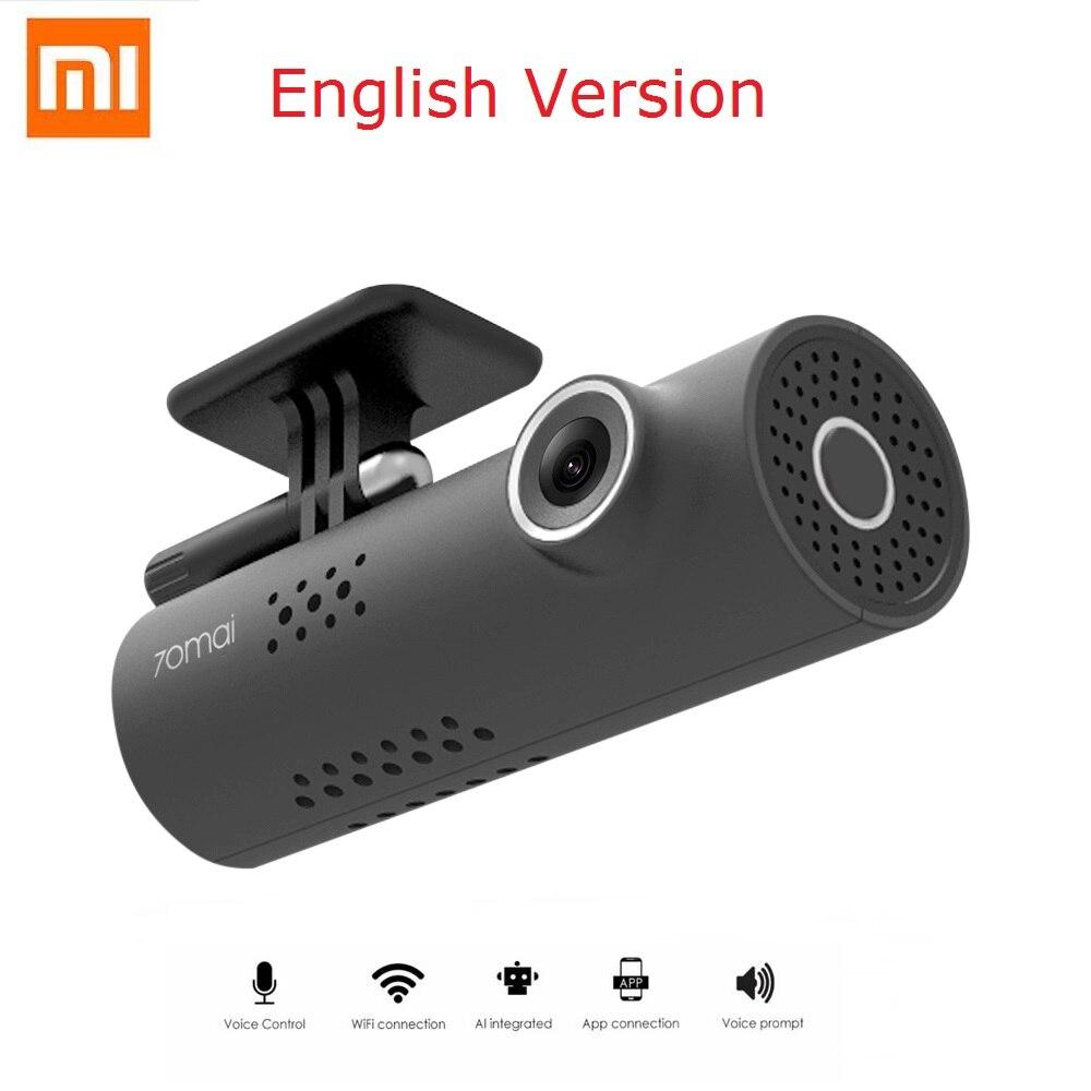Original Xiaomi 70 minutos inglés versión inteligente WiFi coche DVR Wrieless 130 grados Mstar 8328 P Sony IMX323 1080 p 30fps Dash Cam