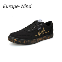 EuropeWind Fall Men Shoes Casual Canvas Korean EUR Style Flat Shoes High Quality Breathable Lightly Wearable