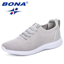 BONA Fashion Men Loafers Summer Breathable Men Casual Shoes Trend Lightweight Leisure Shoes Comfortable Sneakers Flyknit Shoes