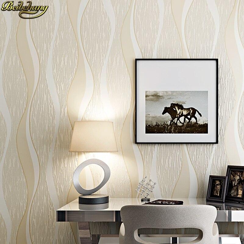 beibehang Modern Simple Wave Curve Striped 3D Carving Wallpaper Living Room Bedroom Restaurant Background papel de parede battlefield 3 или modern warfare 3 что