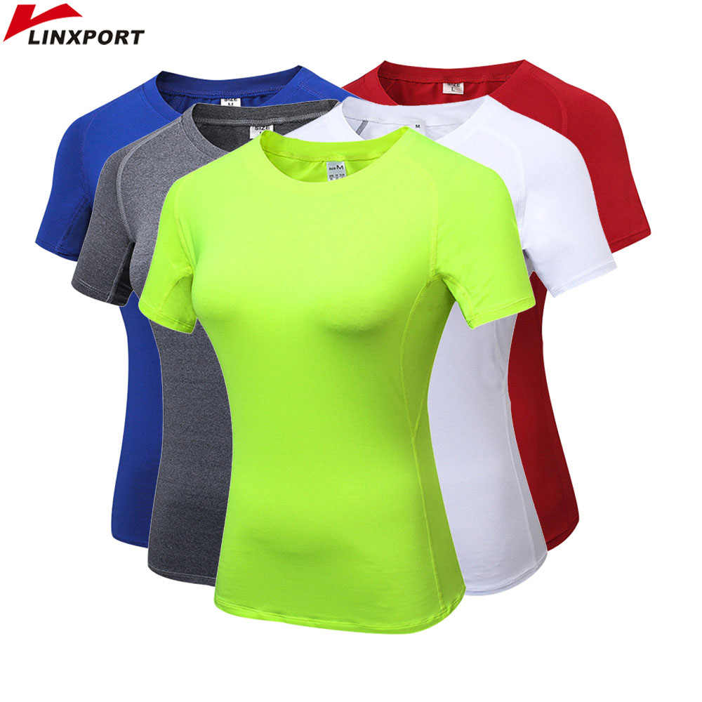 Fitness Women's Quick Drying Shirts Elastic Yoga Sports T Shirt Tights Gym Running Tops Short Sleeve Tees Blouses Shirts Jerseys