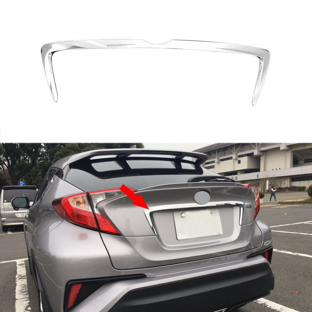 Fit For 2016 2017 2018 Toyota C HR CHR ABS Chrome Rear Trunk Lid Middle Garnish Tailgate Molding Cover Trim Styling Accessories