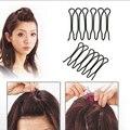 2 Unids Profesional Pinza de Pelo Negro Cabeza Pinzas para el Cabello Barrettes Horquillas Headwear Para Las Mujeres Accesorios Para el Cabello Hair Styling Herramientas