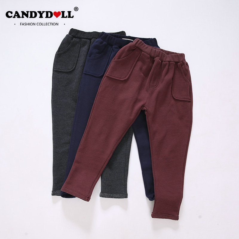 Spring Autumn Children Girls Trousers Cotton Solid Pants Girls Baby Casual Pants Fashion Trousers 3 Colors