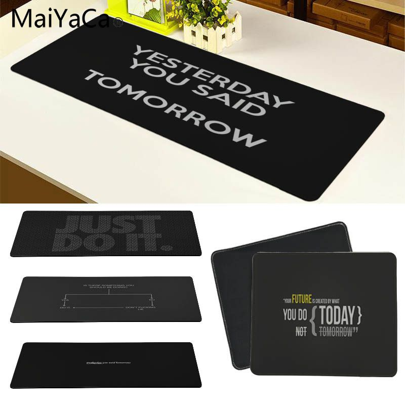 MaiYaCa Yesterday You Said Tomorrow Large Mouse pad PC Computer mat Size for 30x90cm and 40x90cm Gaming Mousepads
