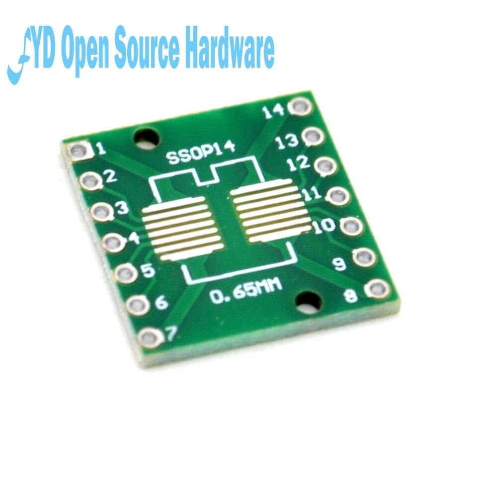 20 шт. адаптер пластина SOP14 SSOP14 TSSOP14 SMD DIP 0,65/1,27 мм