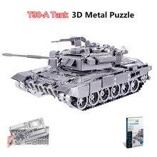Piececool 2017 Teka Teki 3D terbaru T90 TANK 6 Bintang Tahap Model Kit Logam 3D DIY Hadiah Lucu untuk Kanak-kanak Mainan Kesatuan Soviet