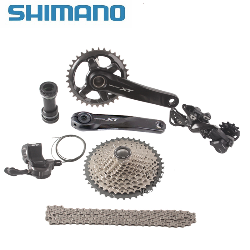 SHIMANO DEORE XT M8000 1x11 Speed 11-40T 11-42T 11-46T MTB Groupset Bicycle Kit Shifter Lever/ Rear Dearilleur /Cassette / Chain 7075t6 cnc mtb chain ring 110pcd 40 42 44 46 48t mtb bike bicycle crank chainring tooth disc chain ring cr e1 dx5800 110