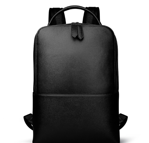 New Litchi Pattern Genuine Leather Male Backpacks Fashion Casual Shoulder Bag Classic Wearproof Large Capacity Schoolbag C200 2017 classic fashion new women backpacks
