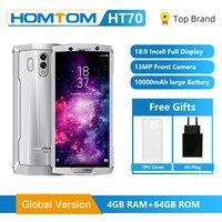 Original HOMTOM HT70 4G FDD LTE 10000mAh Mobile Phone MT6750T Octa Core 6.0 inch 16.0MP 4GB RAM 64GB ROM Android 7.0 Fingerprint