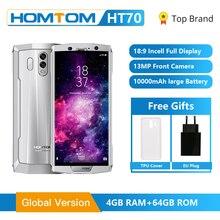 Original HOMTOM HT70 4G FDD LTE del teléfono móvil 10000mAh MT6750T Octa Core 6,0 pulgadas 16.0MP 4GB RAM 64GB ROM Android 7,0 huellas dactilares