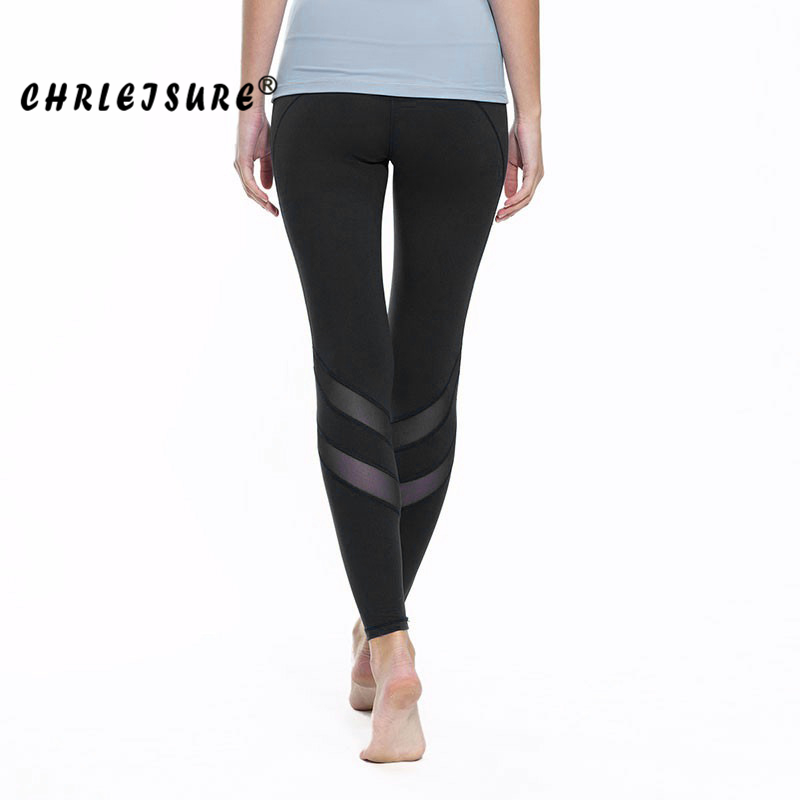 CHRLEISURE S-XL New Designer Sexy Mesh Leggings Big Size Women Fitness Pants Black White Trousers Elasticity Mesh Leggings