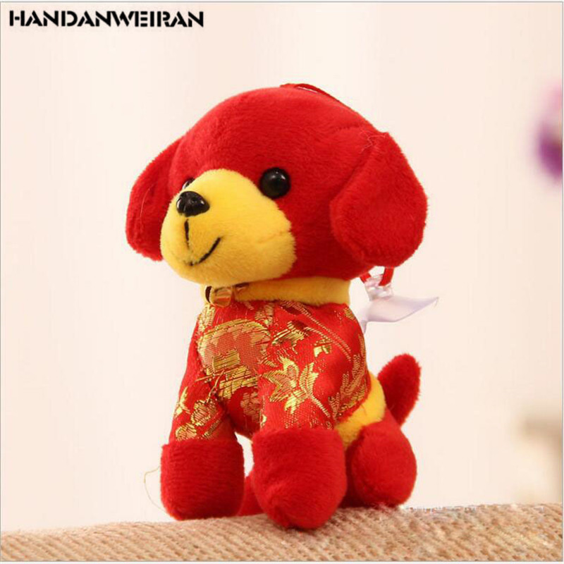 1pc puppy plush pendant dog year mascot dolls plush toys dog dolls new year gift childrens toys wedding gifts