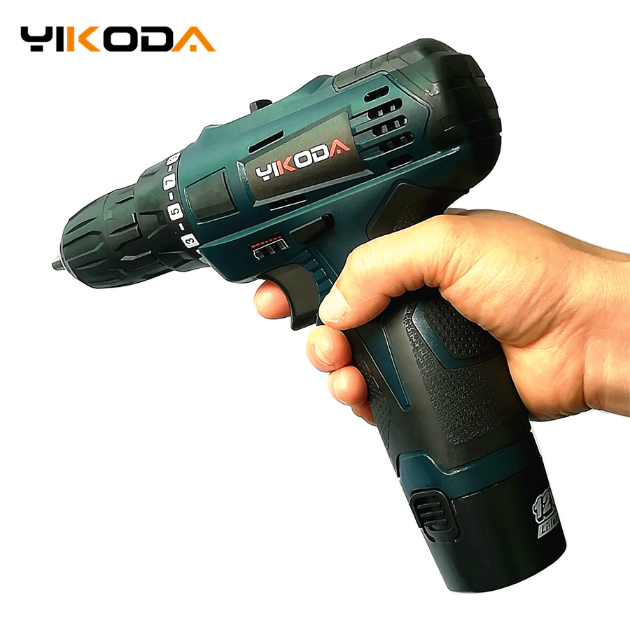 12V Cordless Screwdriver Double Speed Lithium Battery*2 Electric Screwdriver Professional Plastic Case Household Power Tools