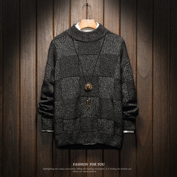 Boże narodzenie mężczyźni swetry zimowe ubrania 2019 Plus rozmiar azjatyckie M-4XL 5XL 6XL japonia styl codzienne standardowe projektant swetry tanie i dobre opinie Lance Donovan Z5114 Stałe Pełna NONE REGULAR Japan style Poliester COTTON Brak Komputery dzianiny Standardowy wełny O-neck