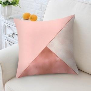 Image 4 - 홈 decortion 로즈 골드 베개 케이스 기하학 dreamlike 베개 폴리 에스터 던져 베개 커버