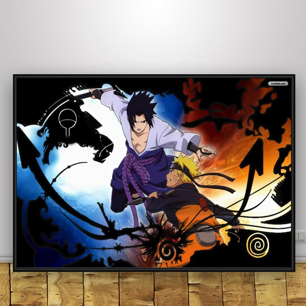 kyuubi vs susanoo art silk poster home decor 12x18 24x36inch in