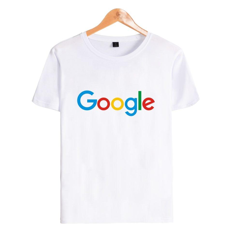 Google Tshirt T Shirt Casual Summer Google Clothing Google Print O-neck Cotton Google Logo T-shirt Short Sleeve T Shirts Tops 1