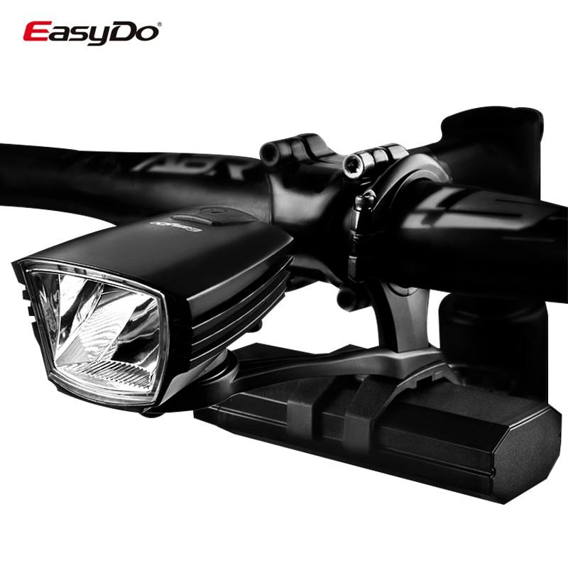 Easydo Professional Bicycle Cycling Headlight USB Rechargeable MTB Road Bike Handlebar Front Light Waterproof LED Lamp