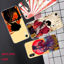 Silicone Phone Case Anime Samurai Champloo Printing for iPhone XS XR Max X 8 7 6 6S Plus 5 5S SE Phone Case Matte Cover black cover japanese samurai for iphone x xr xs max for iphone 8 7 6 6s plus 5s 5 se super bright glossy phone case
