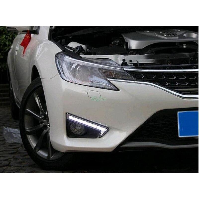 ФОТО LED Daytime Running Lights DRL, LED Fog Lamp for Toyota MARK X REIZ 2013 2014 2015 ON 1:1