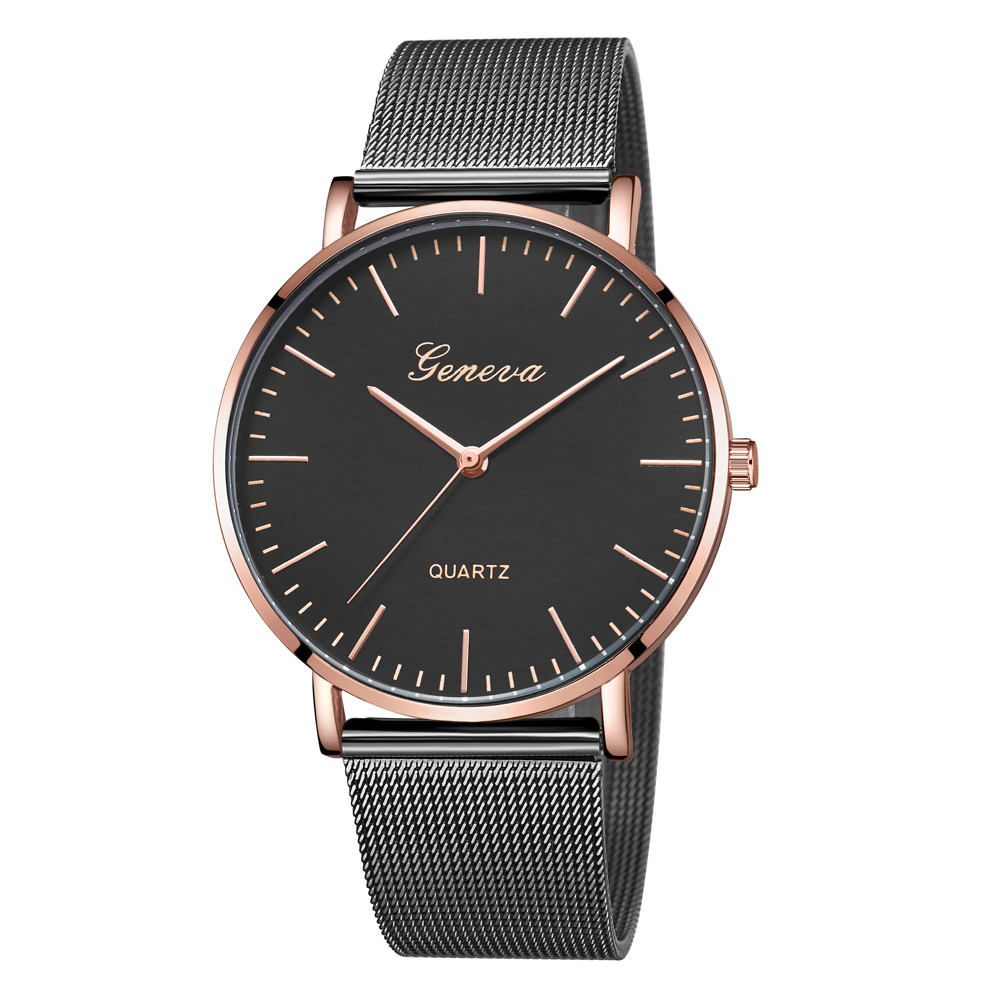New Casual Luxury Women's Men Stainless Steel Band Quartz Analog Wrist Watch Bracelet Sports Watches erkek kol saati gift xinew fashion men sports date analog quartz leather erkek kol saati men watch stainless steel wrist watch 0914