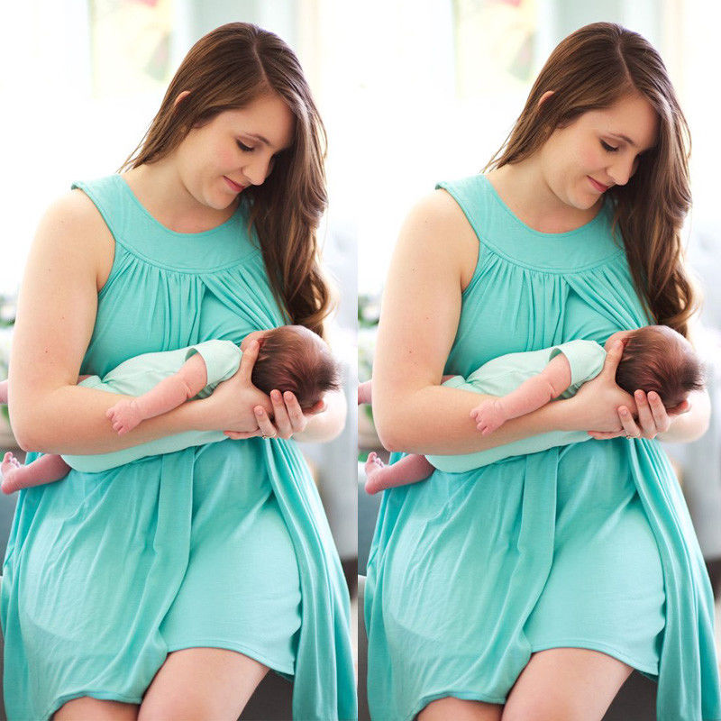 HIRIGIN Newest 2017 Nursing Maternity Dress Breast Feeding Pregnancy Clothes Pregnant Women Dresses