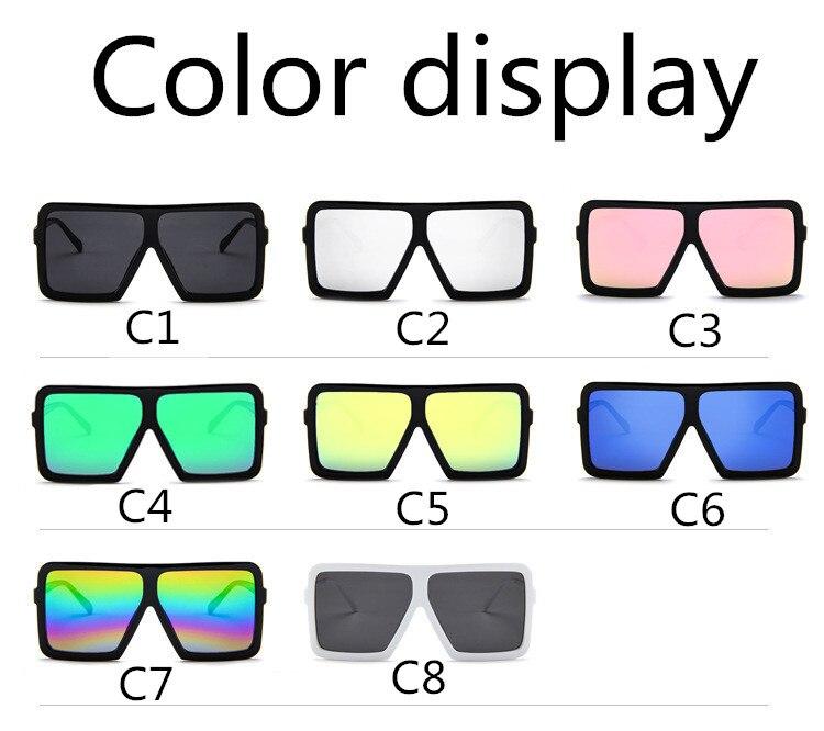 ASUOP2018 large frame new retro ladies sunglasses black radiation fashion men's glasses UV400 international luxury brand square goggles (7)