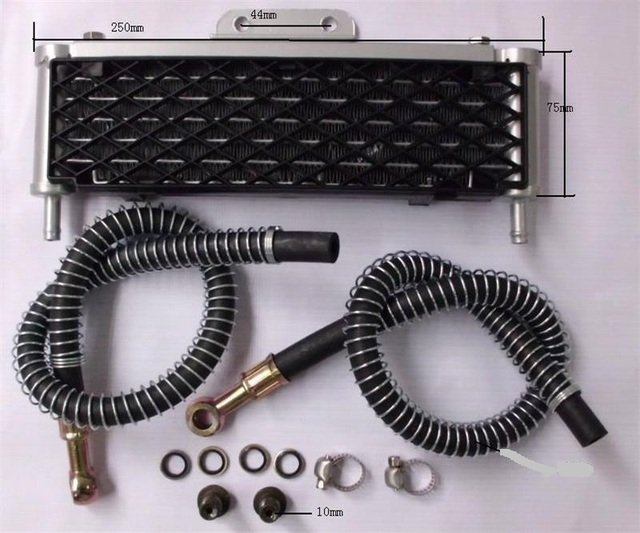 US $52 49 25% OFF|new 110cc 125cc Engine Oil Cooling Radiator cooler for  moto atv motorcycle dirt pit bike parts-in ATV Parts & Accessories from