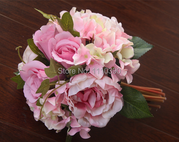 wedding bouquet holder for silk flowers 2 large artificial peony bouquet real touch flowers bouquets 8460