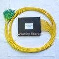 Fibra Óptica PLC splitter 1x32, módulo de caixa de ABS Preto com SC/FC/LC/ST connector, G657A1 cabo de 3.0mm, comprimento 1 m