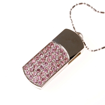 USB 3.0 8GB 16GB 32GB 64GB Crystal Rotating Usb Flash Drive 1TB Jewelry Gift Necklace Pen Drive Pendrive 2TB Memory Stick 512GB