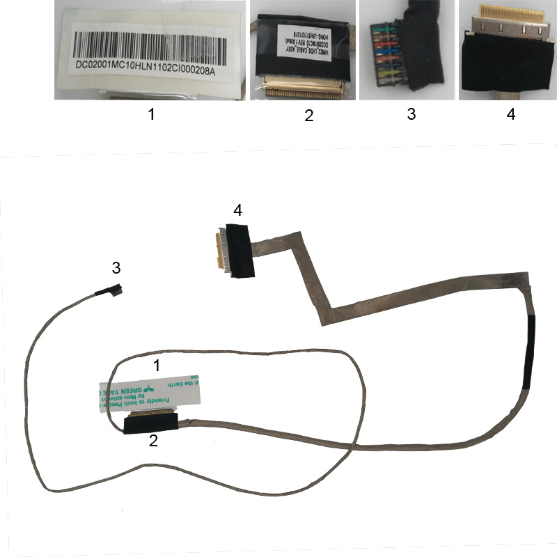NEW Laptop Cable For LENOVO P500 Z500 Z505 Z500A Z510 PN: DC02001MC10 Notebook LCD LVDS CABLE