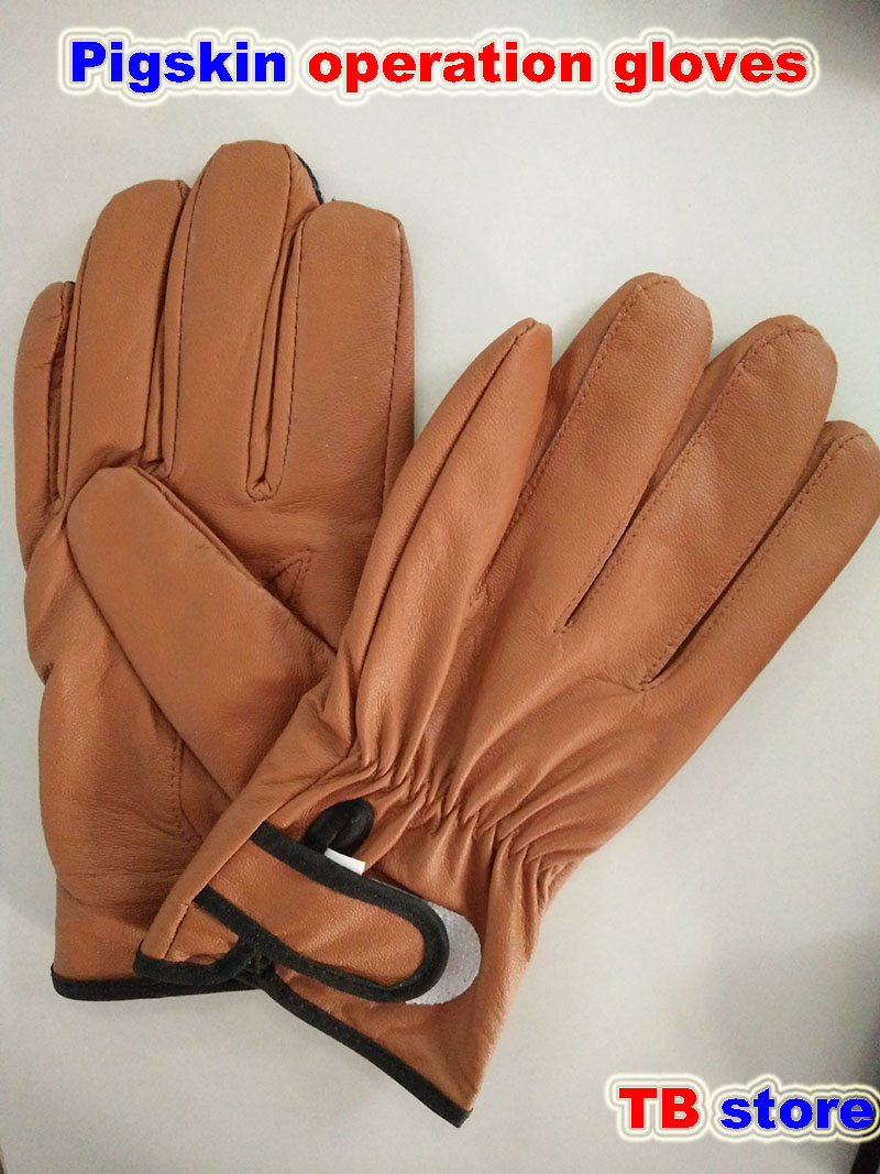 brown Pig skin Working gloves Comfortable Breathable Non-slip gloves Wear resistant durable protective gloves racmmer cycling gloves guantes ciclismo non slip breathable mens