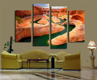 Grand Canyon National Park 4 Panels Wall Art Canvas Paintings Wall Decorations for Home Artwork Giclee Wall Artwork Home Decor