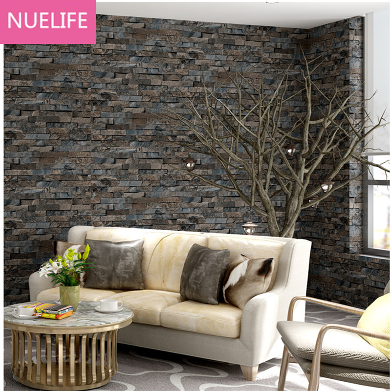 0.53x10 Meter3D retro small brick pattern wallpaper Chinese style restaurant bar clothing shop living room bedroom wallpaper N12 chinese retro personalized brick pattern wallpaper restaurant restaurants hotels dedicated wallpaper